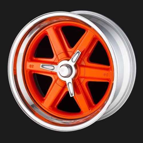 "GT40 Replica Alloy Wheel - 15"" Classic Build Front Mount Cover Plate and Spinner"