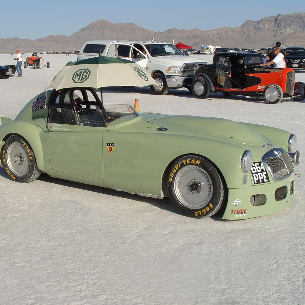 Billet 19 Wheels - MGA Bonneville Speed Run