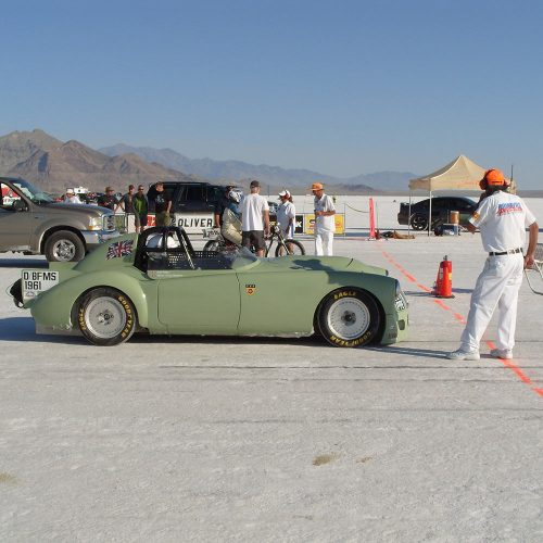 MGA Bonneville Speed Run on Billet 19 Wheels