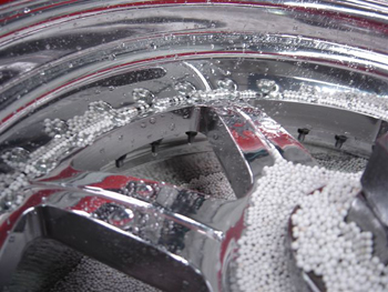 Alloy Wheel Vibrational Polishing